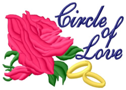 Circle of Love embroidery design