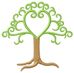 Initial Tree embroidery design