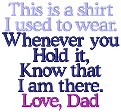 My Shirt Dad embroidery design