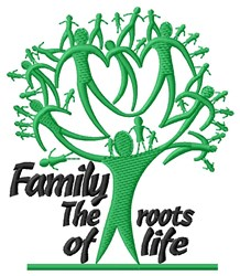 Family Tree Roots embroidery design