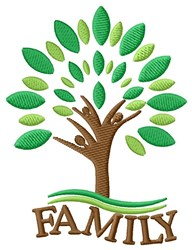 Family embroidery design