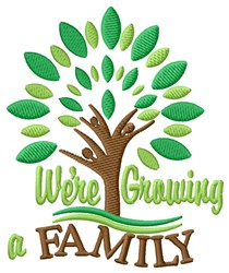 Growing Family embroidery design