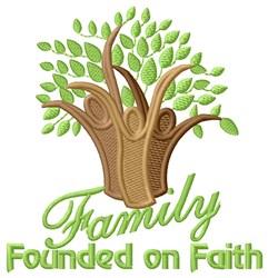 Founded On FAith embroidery design