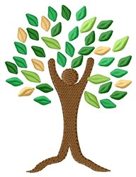 A Familiy Tree embroidery design