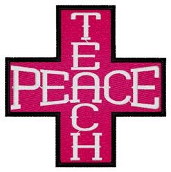 Teach Peace Cross embroidery design