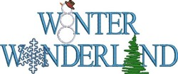 Winter Wonderland embroidery design