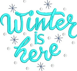 Winter Is Here embroidery design