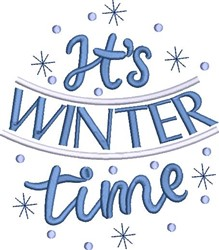 Its Winter Time embroidery design