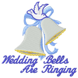 Ringing Wedding Bells embroidery design