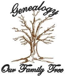 Genealogy embroidery design