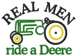 Ride a Deere embroidery design