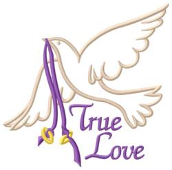 True Love Dove embroidery design