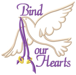Bind Our Hearts embroidery design