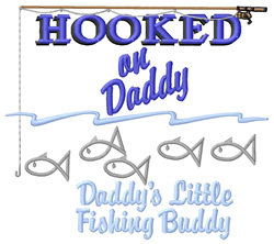 Daddys Little Fishing Buddy embroidery design