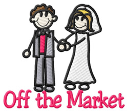 Off the Market embroidery design