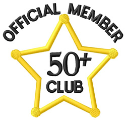 50+ Club embroidery design