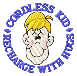 Cordless Kid embroidery design