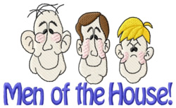 Men of the House embroidery design