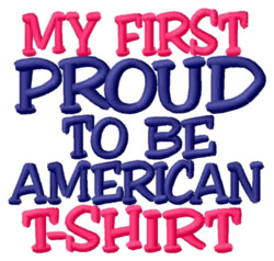 1st American T-Shirt embroidery design