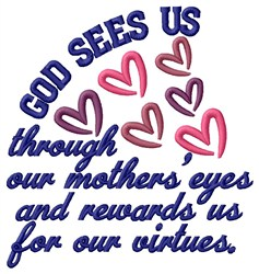 God Sees Us embroidery design