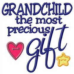 Precious Grandchild embroidery design