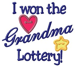 Grandma Lottery embroidery design