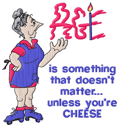 Unless Youre Cheese embroidery design