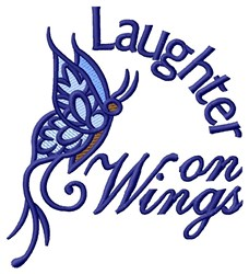 Laughter On Wings embroidery design