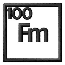 Atomic Number 100 embroidery design