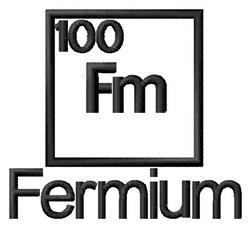 Fermium embroidery design