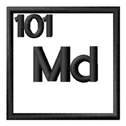 Atomic Number 101 embroidery design