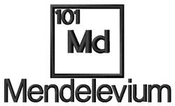 Mendelevium embroidery design