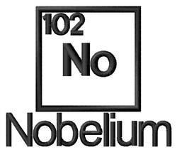 Nobelium embroidery design