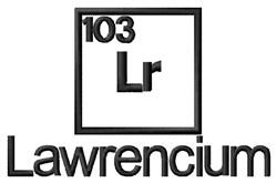 Lawrencium embroidery design