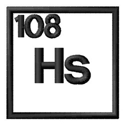 Atomic Number 108 embroidery design