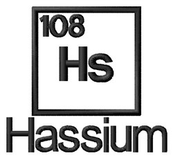 Hassium embroidery design