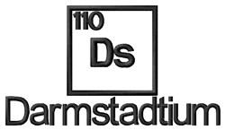 Darmstadtium embroidery design