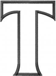 Toga Outline Tau embroidery design