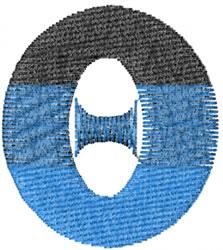 Small Toga Theta embroidery design