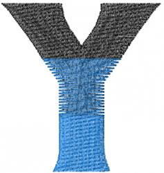 Small Toga Upsilon embroidery design