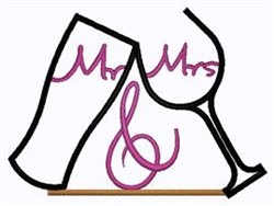 Mr & Mrs Toast embroidery design