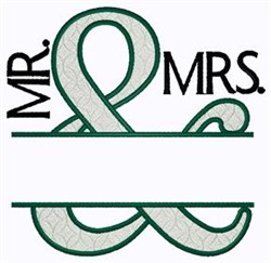 Namedrop Mr and Mrs embroidery design