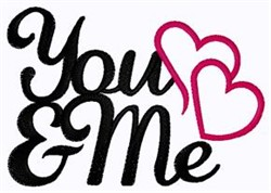 You & Me embroidery design