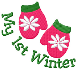 My 1st Winter embroidery design