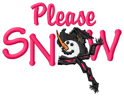 Please Snow embroidery design
