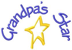 Grandpas Star embroidery design