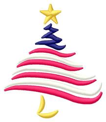 Patriotic Tree embroidery design