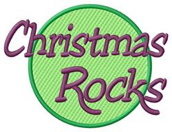 Christmas Rocks embroidery design