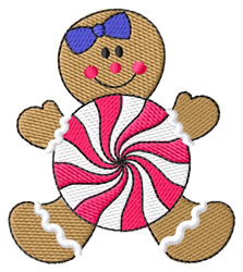 Gingerbread Candy embroidery design
