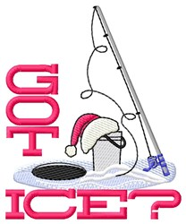 Got Ice? embroidery design